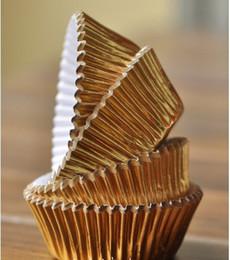 Wholesale Cupcake Liners Silver Aluminium Foil Cupcake Liner Bulk High Temperature Baking Greaseproof Paper Mini Muffin Cupcake Wrappers