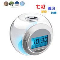 Wholesale Creative Color Changing Light Alarm Clock Temperature Clock With Natural Sound