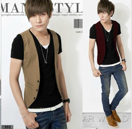 Wholesale Hot Fashion Slim Male vest Men s Outwear Sleeveless Vest