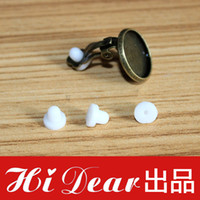 Rubber 1200pcs opp bag Rubber Earring Back Stoppers Fit Earring Clips Perfect Match Earring Clips Jewelry Earring DIY Findings Fashion Earring Accessories 5*5mm