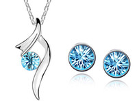 Wholesale Fashion Jewelry Sets Austrian crystal necklace earring sets