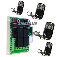 Wholesale metal fixed code wireless Remote Control Channels wireless receiver garage door kit