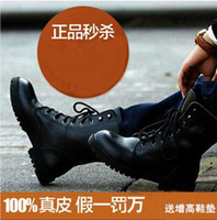 Half Boots men military boots fashion - 2013 Brand New Fashion British military boots men shoes men s leather boots high help Martin boots men boots cowhide leather shoes
