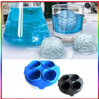 Wholesale Sample Order Ice Freeze Cube Silicone Tray Maker Mold Tool Brain Shape Bar Party Drink L151