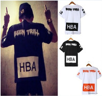 Wholesale Men Hood By Air HBA X Been Trill West Seiko Edison Chen New Kanye Style Print Graphic Tee T Shirt Black White M Pyrex