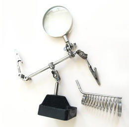 Wholesale Sample Order Third Hand Soldering Solder Iron Stand Holder Station Magnifier Helping Tool Kit L152