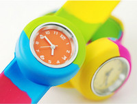 Wholesale High Quality PAPA Silicone Sport Watches Colorfull Children Wristwatch Round Slap Best Promotion Gift New Arrival BY DHL