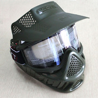 Wholesale Tactical Military SCCTT Full Face double lens Mask olive Airsoft paintball New