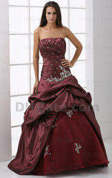Wholesale Quinceanera Dresses Real Image Strapless Neckline Silver Sequin and Beaded A line Taffeta Floor length Bandage Prom Dresses M