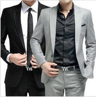 Wholesale 2015 Men s Of The Groom Dress Fashion Leisure Suit Cultivate One s Morality Men s Suit Pieces Coat And Pants M XL t0647