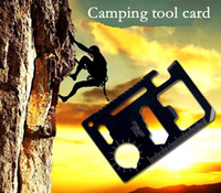 Knife Sets Pocket, Multi Tools  11 in 1 Emergency Multi Survival Tool Kit Saber Card Army Knife Card Tools Card Camping Card - APPA0861