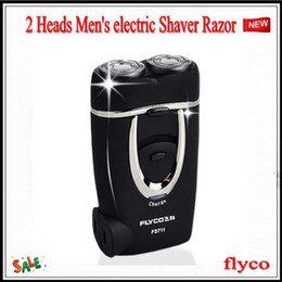 Wholesale New FS711 FLYCO Mens Rechargeable Electric Shaver Black Razor Beard Shaver CRSH