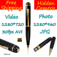 Wholesale P HD Camera Pen Camcorder GB Memory Mini DV Video fps AVI DVR Photo JPG Hidden Camera
