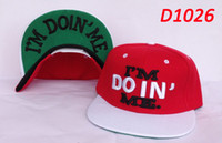 Wholesale Snapbacks Flat Brim Snap Back Adjustable Fitted Hats Red Ladies Fashion Caps Unique Im Doin Me Embroidery Cheap Best Ball Caps HOT SALE