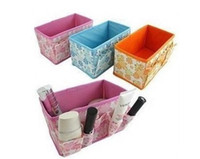 Wholesale Cosmetics storage box multicolor folding container bag case