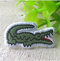 Wholesale Crocodile fabric sticker clothes patch stickers accessories embroidery ironing x1 cm