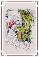 A3 size   New Fish Flash Tattoo Book A3 size Tattoo Flash free shipping