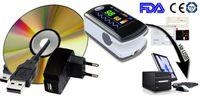 al por mayor datación directa-Venta al por mayor - Oxímetro portable CMS50EW + USB + Bluetooth + SW del pulso del dedo del CE del Contec de la fábrica, OLED Análisis del estudio del sueño, Real-Fecha, PC