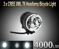 Wholesale Headlight high power Lumen x CREE XM L T6 LED Headlight Headlamp Bicycle Bike Light Waterproof Flashlight