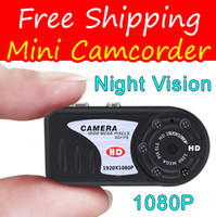 Wholesale T8000 P IR Night Vision Q5 Metal Hidden Camera Mini Camcorder Thumb Mini DV Digital Camera Recorder HD DVR
