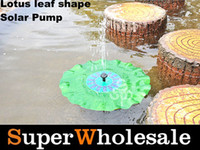 Wholesale 200L h DC V Solar Powered Floating Fountain Pump Pool Pond Garden Green Water Lotus Leaf