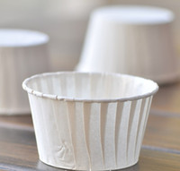Disposable baking mini cupcakes - Pure White cupcake liners High temperature baking cups greaseproof paper mini muffin cupcake liners