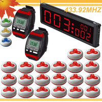 Wholesale 1set LED Display restaurant buzzer systems show the last calls meanwhile w watch pagers Buzzer beeper DHL free
