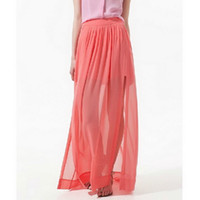 Chiffon amazing retail sale - Retail New Fashion Amazing Chiffon Long Maxi Skirt Hot Sales Bohemian Princess Skirt High Quality Welcome Drop Shipping