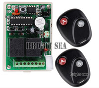 al por mayor receptor remoto del garaje-12V 2CH RF transmisor inalámbrico de control remoto del sistema 2 transmisores y 1 receptor para Applicance Puerta de garaje