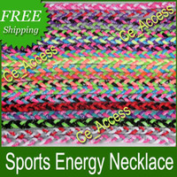 Wholesale fluorescence color necklace USA popular titanium sports necklace