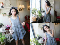 korean maternity dress - 2013 summer the Korean maternity dress pregnant women skirt loose dress vest skirt