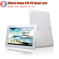 "Ampe 10 inch Quad Core Ampe A10 3G Quad core Tablet PC GPS 10.1"" IPS Capacitive Screen Bluetooth 3G Phone call Sim card slot 1G 4G GPS"