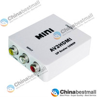 Wholesale New Mini AV CVBS Composite RCA to HDMI p p Upscaling Video Converter Adapter White