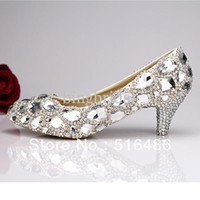 2013 korea style princess crystal wedding shoes rhinestone b...