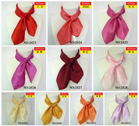 Wholesale Pure color imitate silk scarves square silk scarves for women fashion ladies scarf hot sale