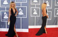 30% Off Celebrity Dresses Sexy Black Deep V neck Backless Sh...