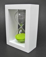 Wholesale NEW Simple Design Wooden Frame Minutes Hourglass Sand Timer gift Colors