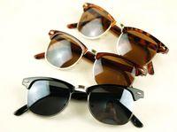 Wholesale Retro Vintage Style Sunglasses Half Rim Unisex Sun glasses