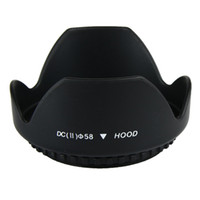 Wholesale 58mm Flower Petal Lens Hood for Nikon Canon Sigma Tamron Sony Minolta Olympus and etc SZCG8317