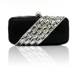 Temperament Top Grade Women's Diamond Rhinestone Velvet clutch bags handbag purse evening bag banquet Bags 3 colors 12021
