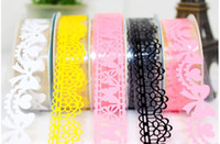 Wholesale Colorful Sweet Stationery Lace Tape Decorative Sticker DIY Tape Office Adhesive Tape
