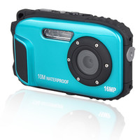 Wholesale 16MP Waterproof Digital Camera quot LCD m Waterproof X Digital Zoom Blue