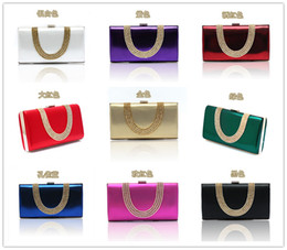 Temperament Top Grade Women's Diamond Rhinestone Velvet clutch bags handbag purse evening bag banquet Bags 9 color 12030