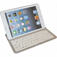 Wholesale Bluetooth Wireless White Keyboard for PC Macbook Mac Mini Ipad white and black color DHL