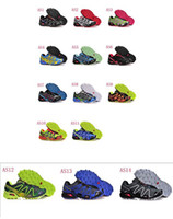 Wholesale 2013 Colors New Arrived Salomon Speedcross Shoes Men Athletic Shoes Running shoes EU Size Bestserve