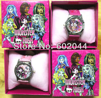 Wholesale Popular Monster High Watch Girl Wristwatches W Box
