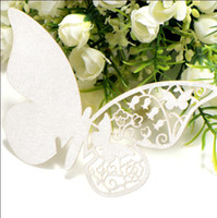 Wholesale Butterfly Laser Cut Glass Cards Name Place Table Cards for Wedding Party Decor