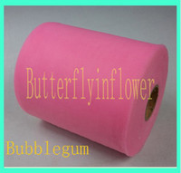 bubblegumme pink fabric tulle - colorful tulle fabric tulle solid color bubblegum pink tutu tulle roll roll yard