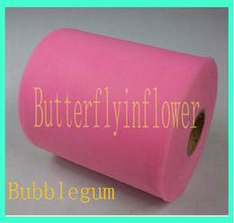Wholesale colorful tulle fabric tulle solid color bubblegum pink tutu tulle roll roll yard