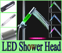 Cheap LED shower tricolor temperature control and sense shower shower shower rod type turbocharged hand-held A13